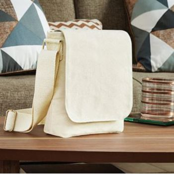 Fairtrade cotton canvas mini messenger Vignette