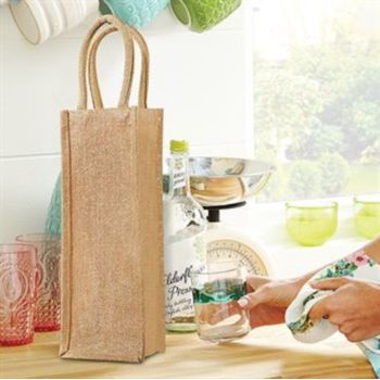 Shimmer jute bottle bag Vignette